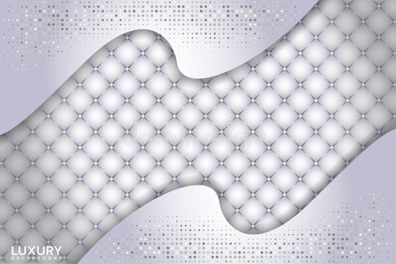 Fundo textured branco luxuoso com forma da sobreposi??o 3d ilustração royalty free