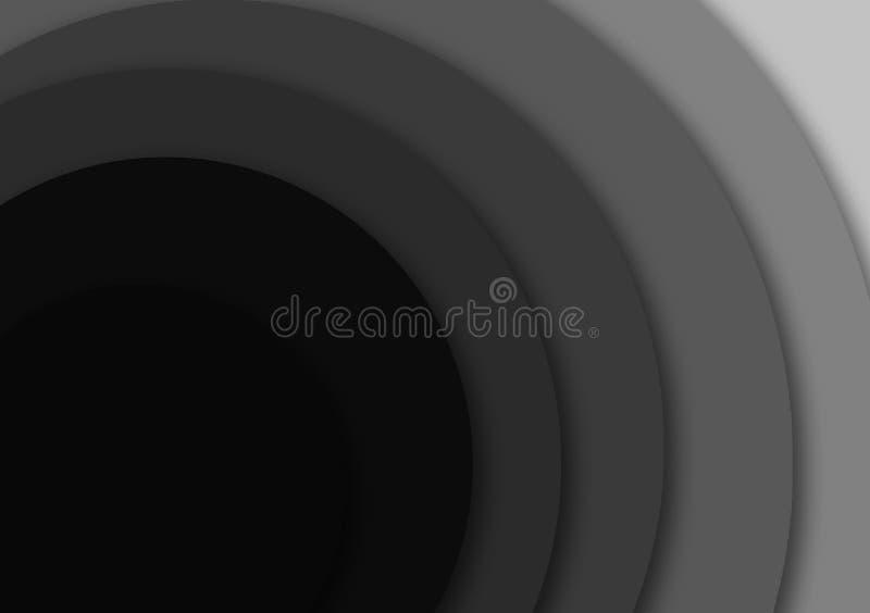 Fundo textured cinzento circular do papel de parede do projeto do inclinação ilustração do vetor