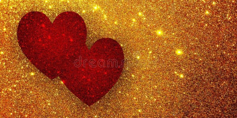Fundo textured coração do brilho fotos de stock