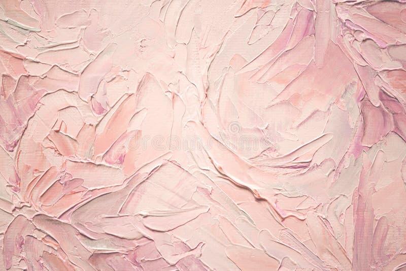 Fundo textured da pintura a óleo do rosa do Softness ilustração royalty free