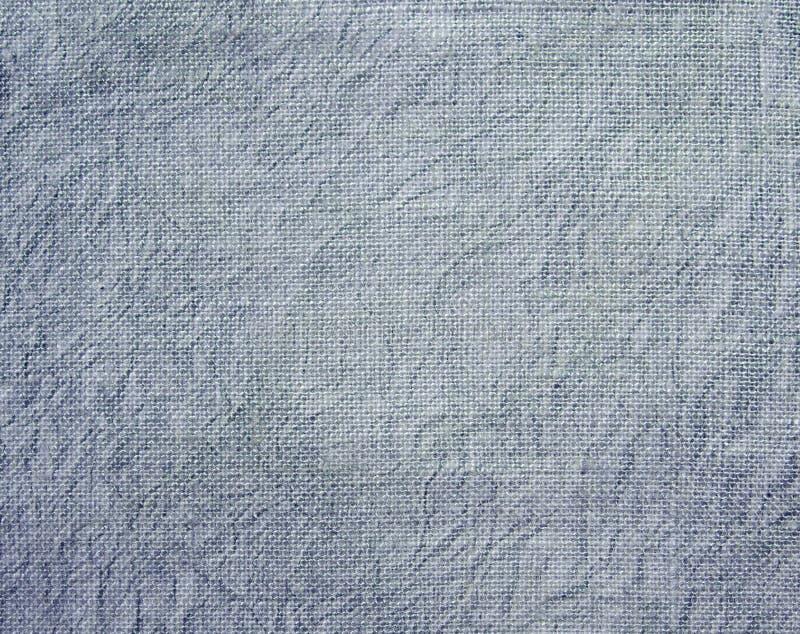Fundo Textured da tela amarrotada azul imagens de stock royalty free