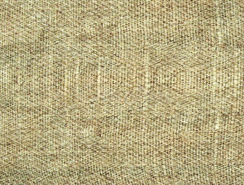 Fundo Textured da tela amarrotada bege fotografia de stock