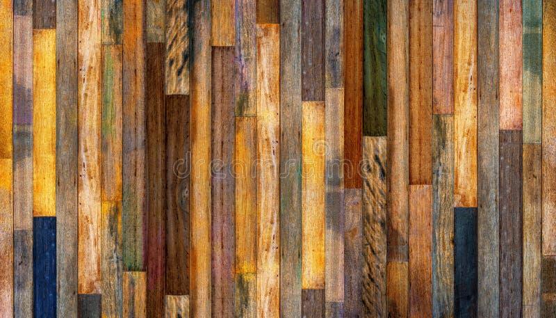 Fundo textured de madeira da parede do vintage velho ilustração do vetor