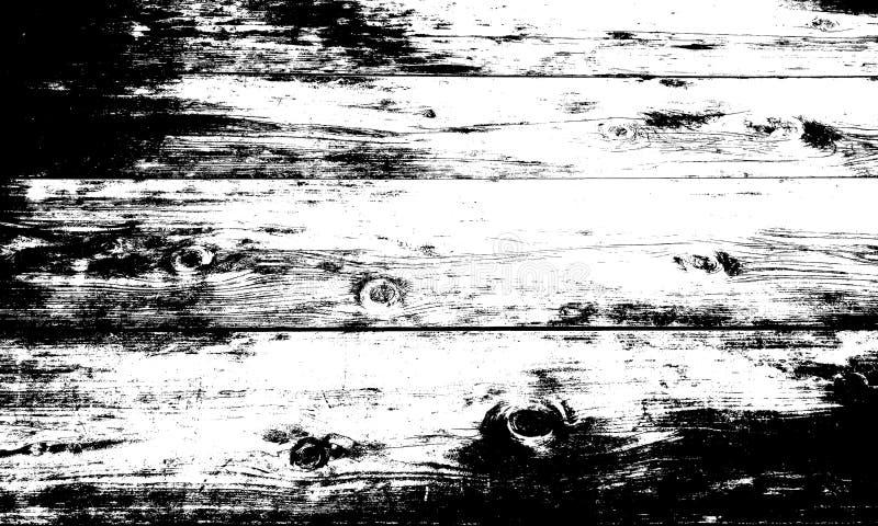 Fundo textured de madeira preto e branco do sum?rio ilustração do vetor