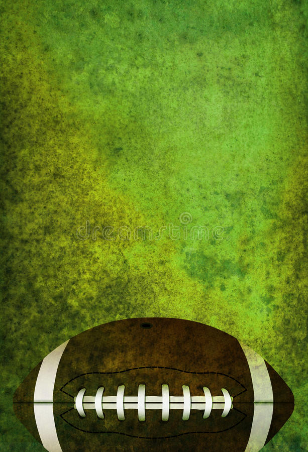 Fundo Textured do campo de futebol americano com bola ilustração stock