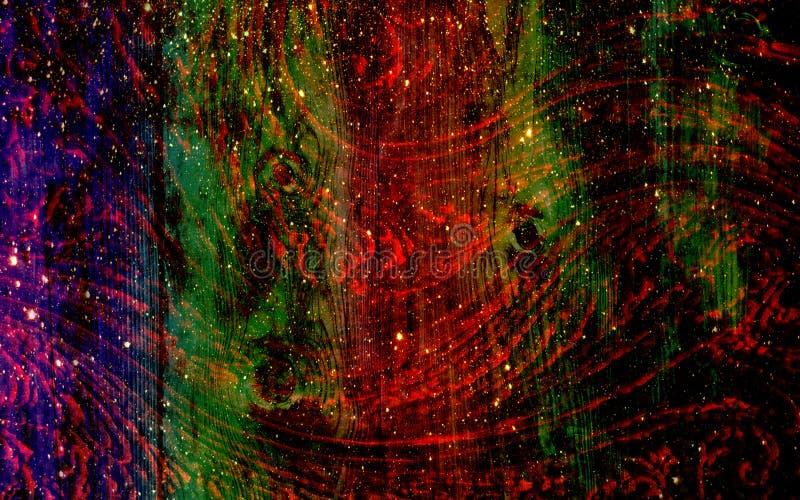 Fundo textured do grunge do arco-íris abstrato, papel de parede ilustração do vetor