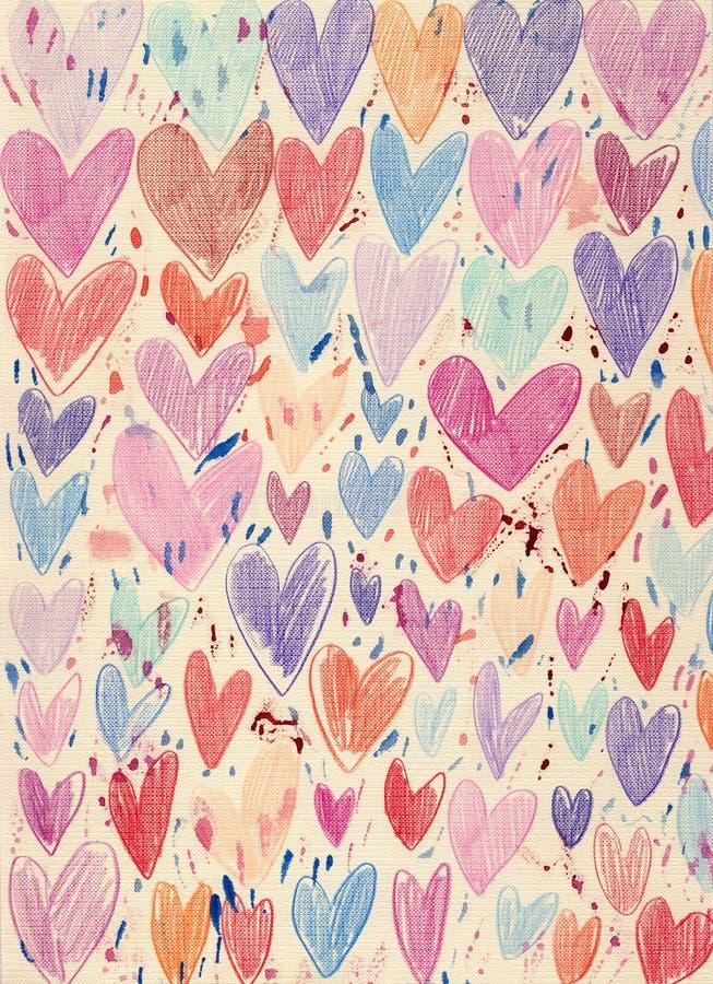 Fundo Textured dos corações ilustração royalty free