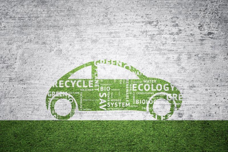 Fundo textured grunge do carro de Eco ilustração royalty free