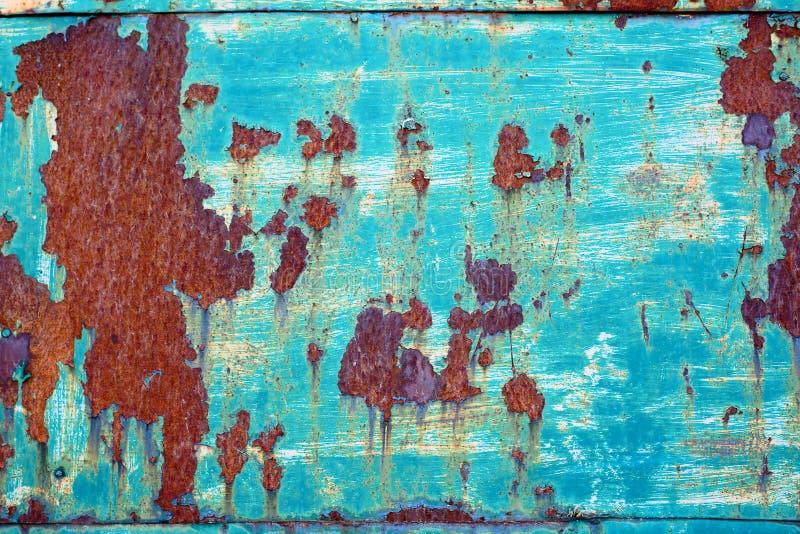 Fundo textured oxidado lascado do metal da pintura fotografia de stock