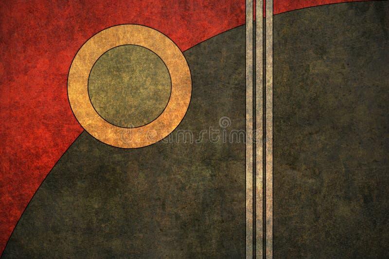 Download Fundo Textured retro ilustração stock. Imagem de vermelho - 14494987