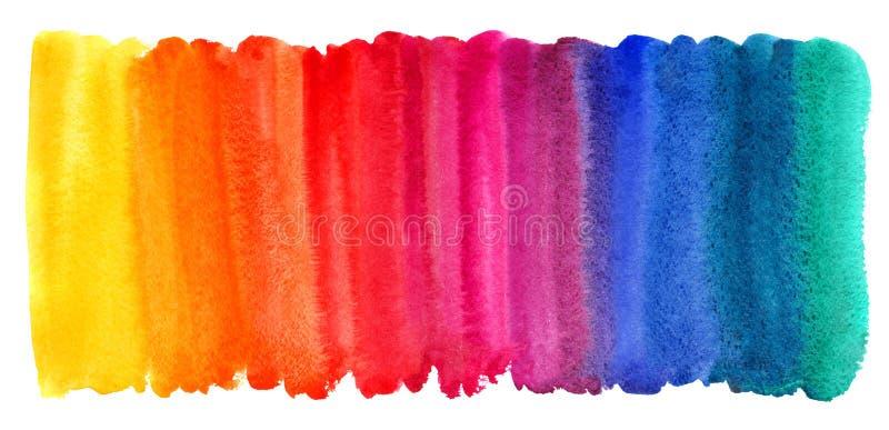Fundo tirado da aquarela escova colorida brilhante ilustração royalty free