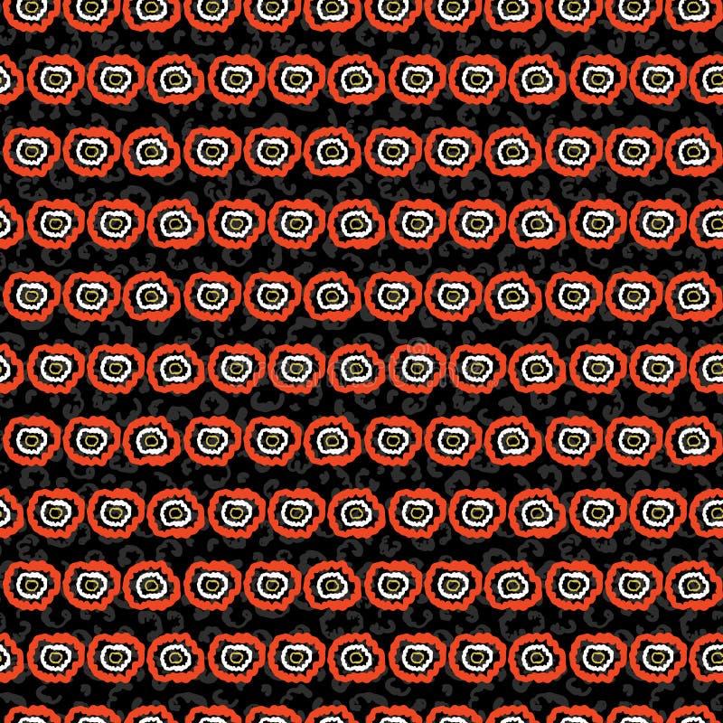 fundo tirado Dot Stripes Vetora Pattern Hand da polca 60s, linhas abstratas amalucados retros ilustração do vetor