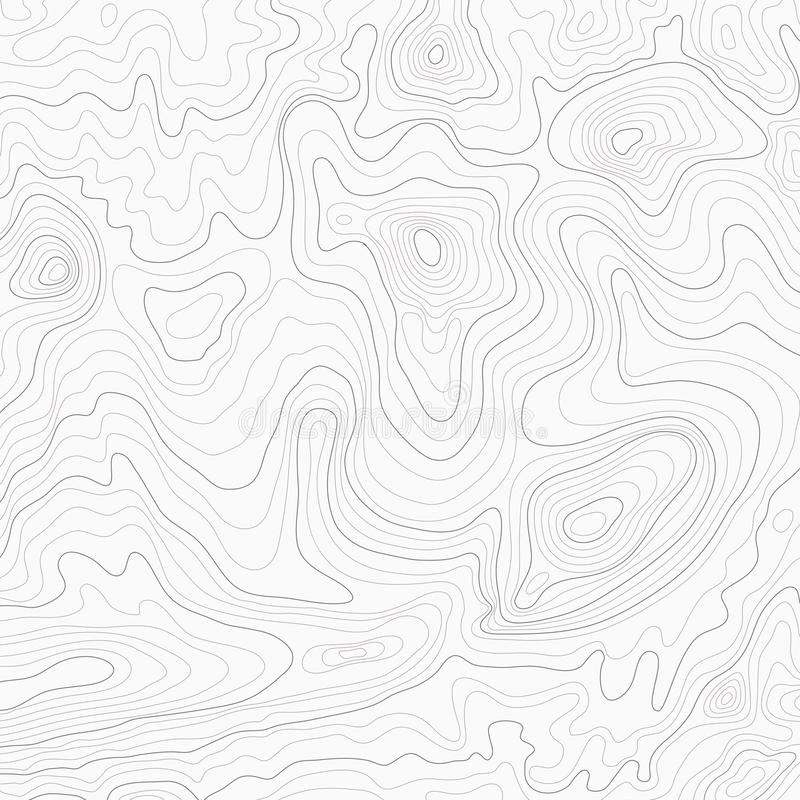 Fundo topográfico claro do mapa de contorno do topo ilustração do vetor