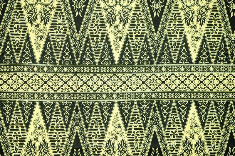 Teste padrão tradicional do Sarong do Batik foto de stock