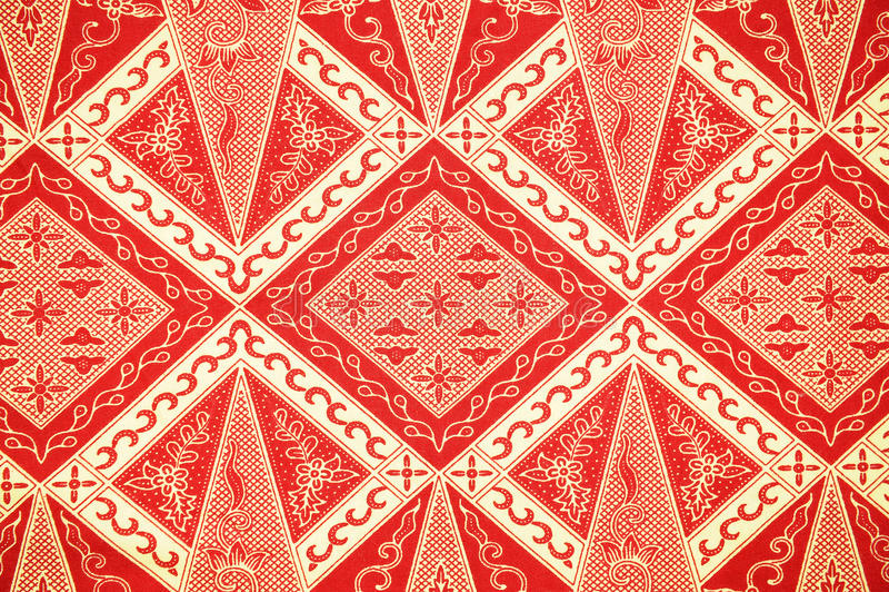Teste padrão tradicional do Sarong do Batik fotos de stock royalty free