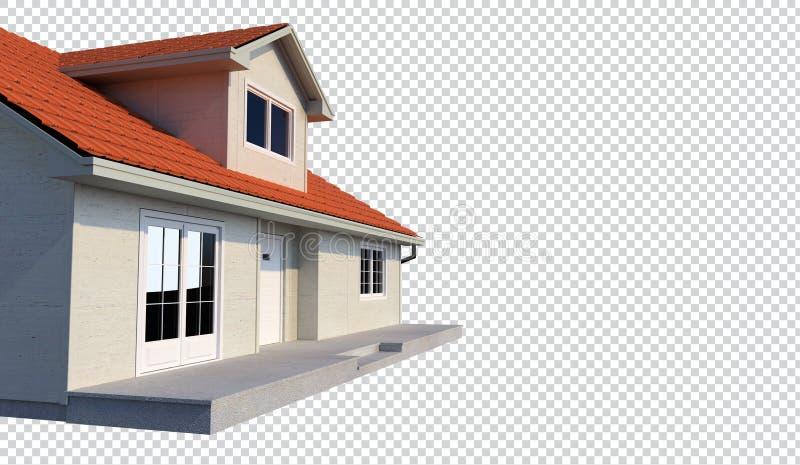 fundo transparente isolado casa da família 3d ilustração stock