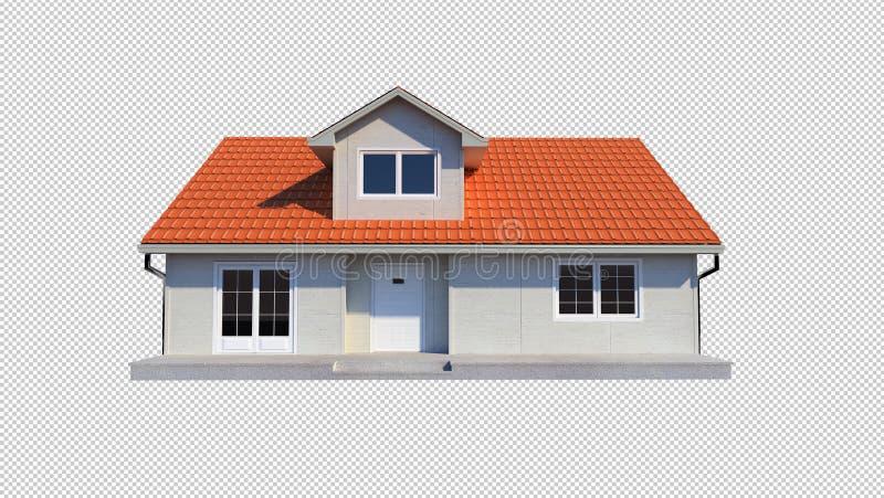 fundo transparente isolado casa da família 3d ilustração do vetor