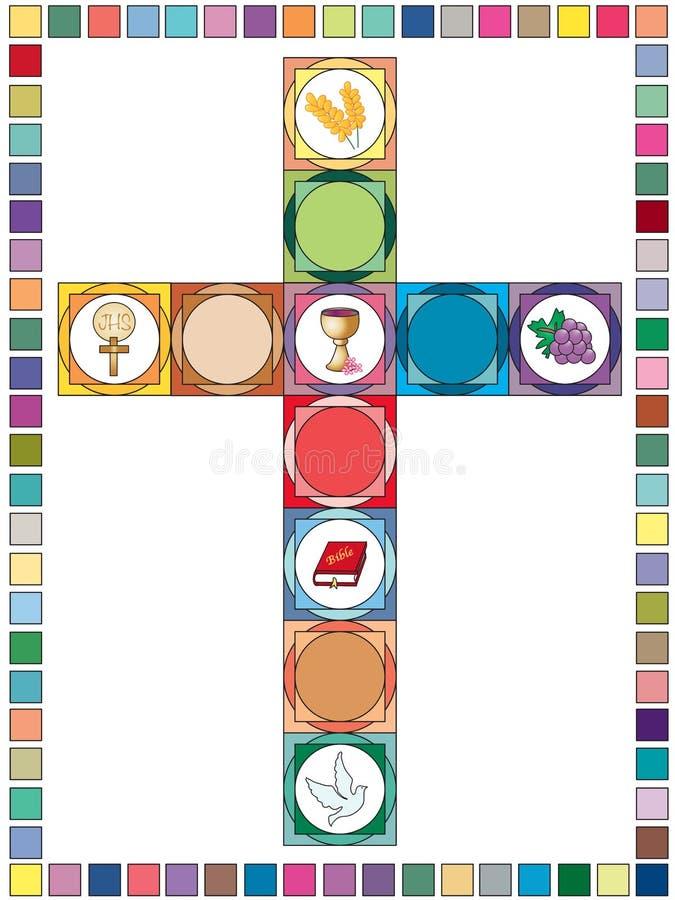 Fundo transversal da religião ilustração royalty free