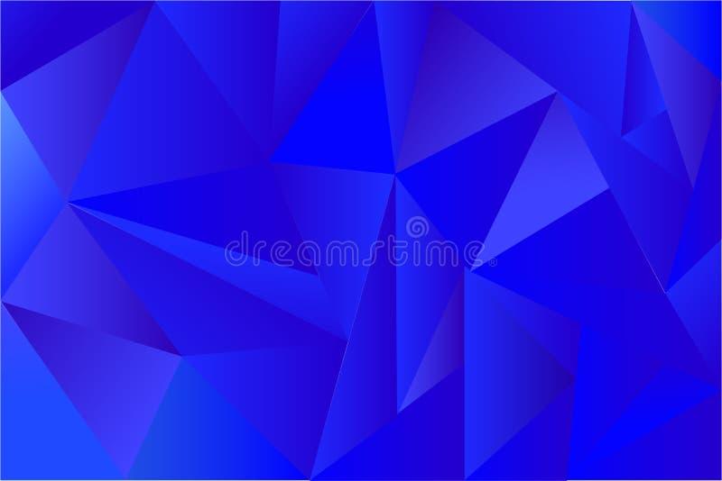 Fundo - triângulo azul gradual ilustração royalty free