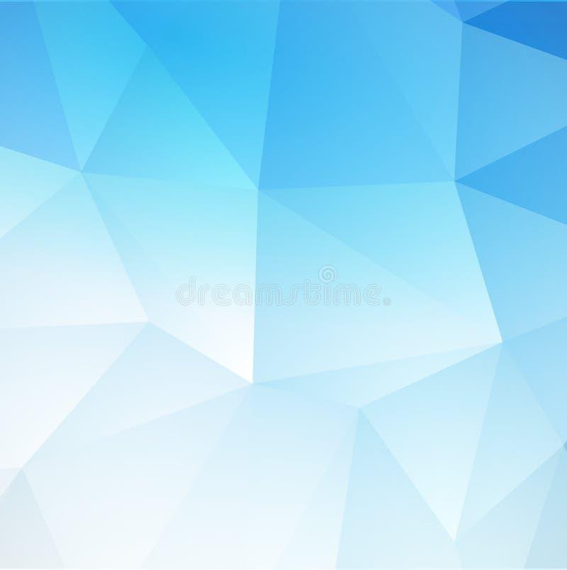 Fundo triangular abstrato azul Vetor ilustração royalty free