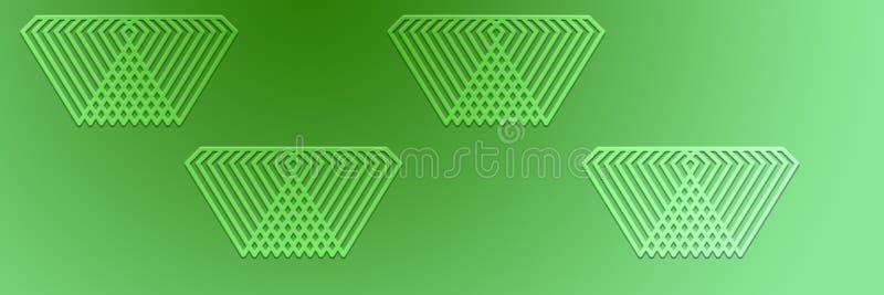 Fundo triangular abstrato do encabeçamento do projeto do teste padrão ilustração stock