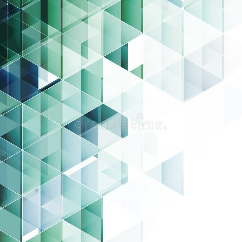 Fundo triangular abstrato Vetor ilustração stock