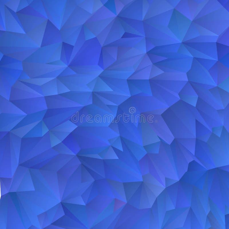 Fundo triangular azul abstrato Disposi??o para anunciar Eps 10 ilustração stock