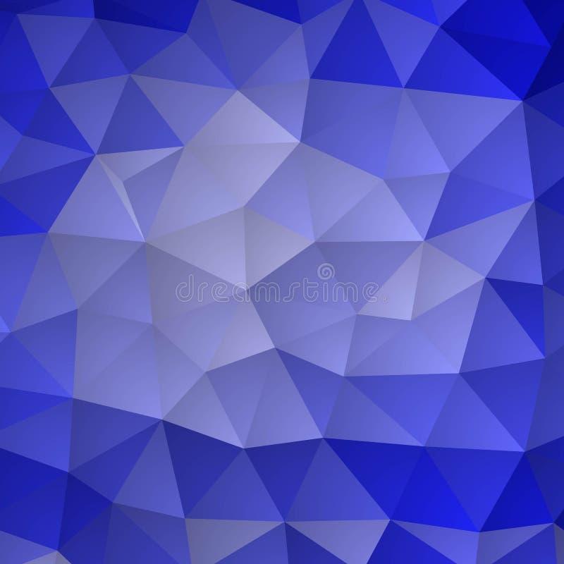 Fundo triangular azul brilhante Molde para a apresentação Disposição para anunciar ilustração do vetor