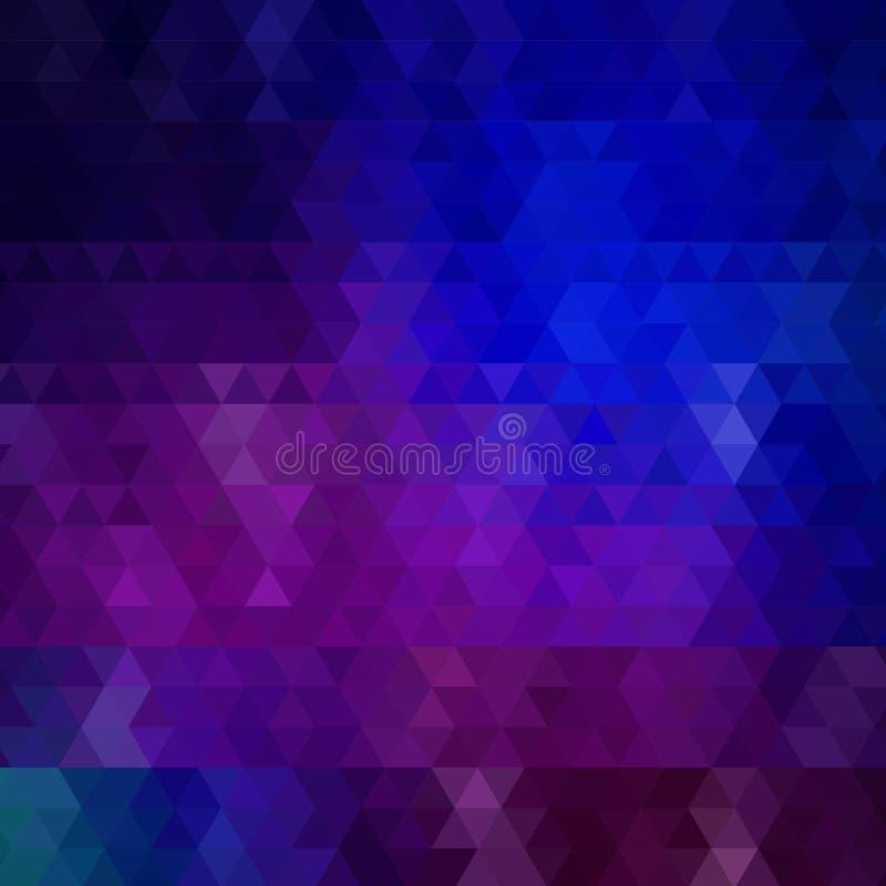 Fundo triangular azul Estilo poligonal Disposi??o para anunciar Eps 10 ilustração royalty free