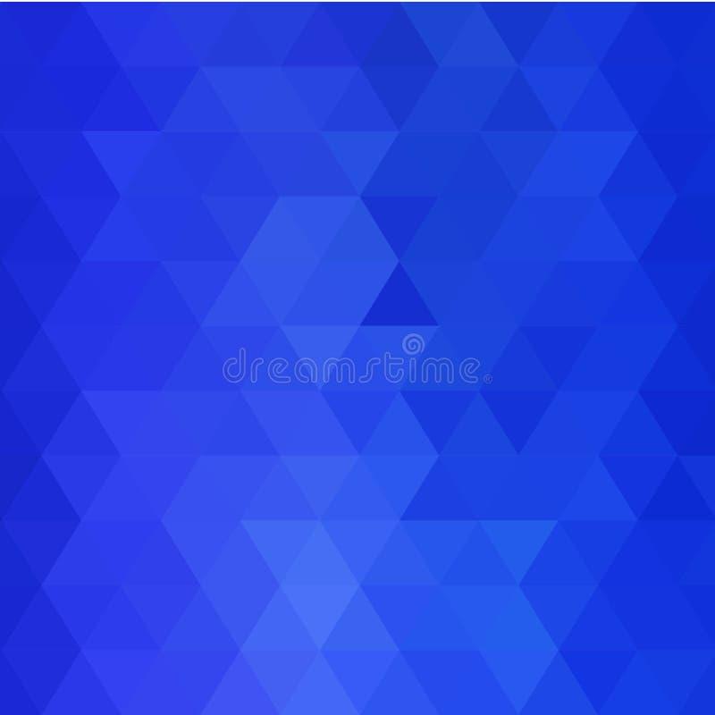 Fundo triangular azul ilustra??o abstrata do vetor Eps 10 ilustração royalty free