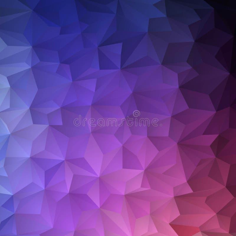 Fundo triangular brilhante Molde para a apresentação Disposição para anunciar ilustração azul-violeta ilustração stock