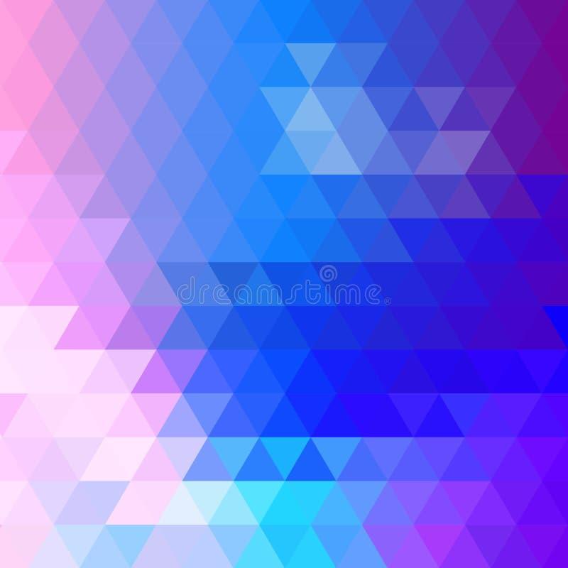 Fundo triangular brilhante Molde para o presemaket para anunciar Azul-violeta ilustração royalty free