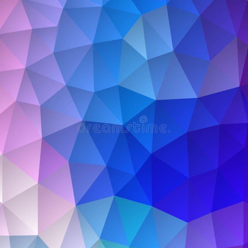 Fundo triangular brilhante Molde para o presemaket para anunciar Azul-violeta eps 10 - Vektorgrafik ilustração do vetor