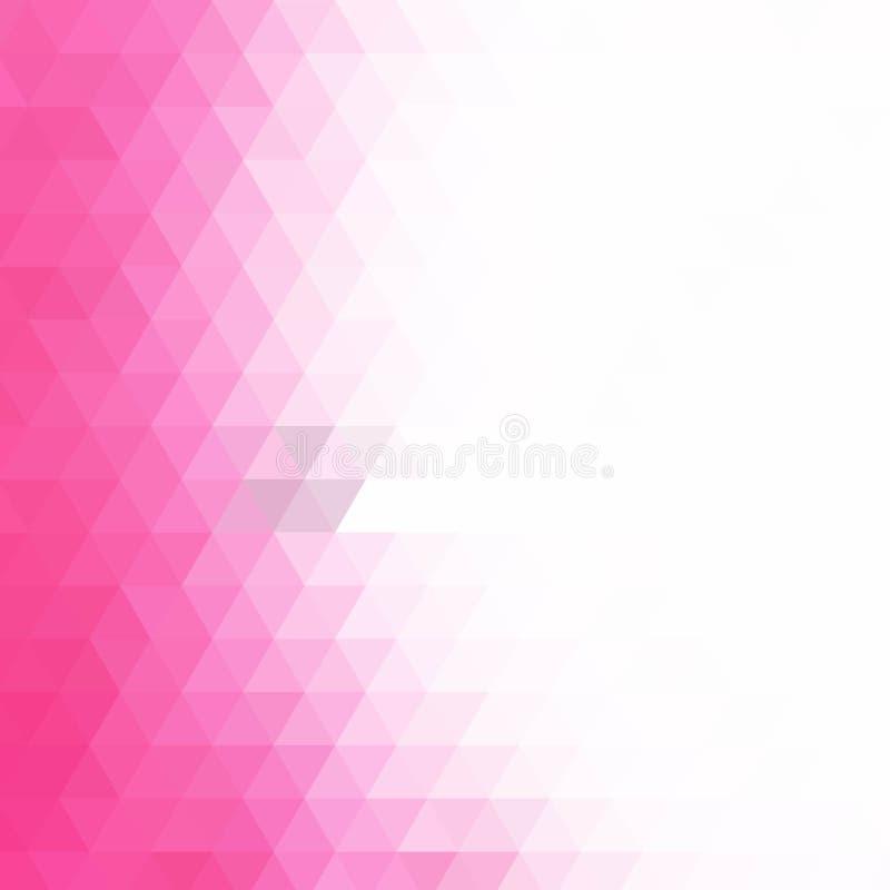 Fundo triangular cor-de-rosa Estilo poligonal disposição para anunciar - Vektorgrafik ilustração royalty free
