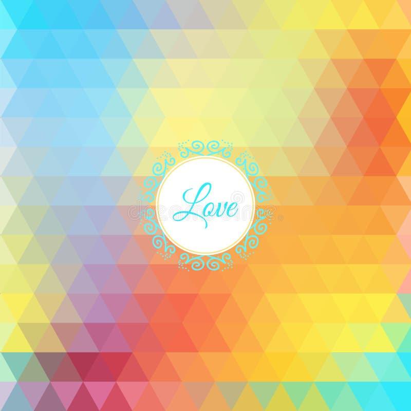 Fundo triangular do arco-íris colorido ilustração do vetor