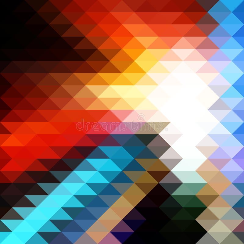 Fundo triangular do mosaico ilustração royalty free