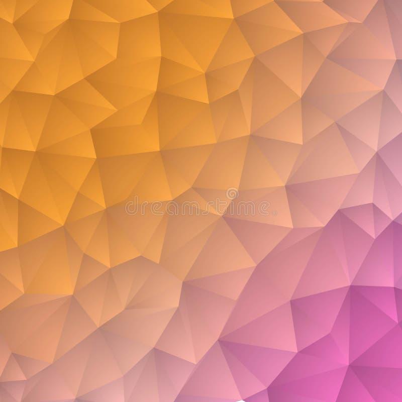 Fundo triangular pastel Estilo poligonal Disposi??o para anunciar Eps 10 ilustração royalty free