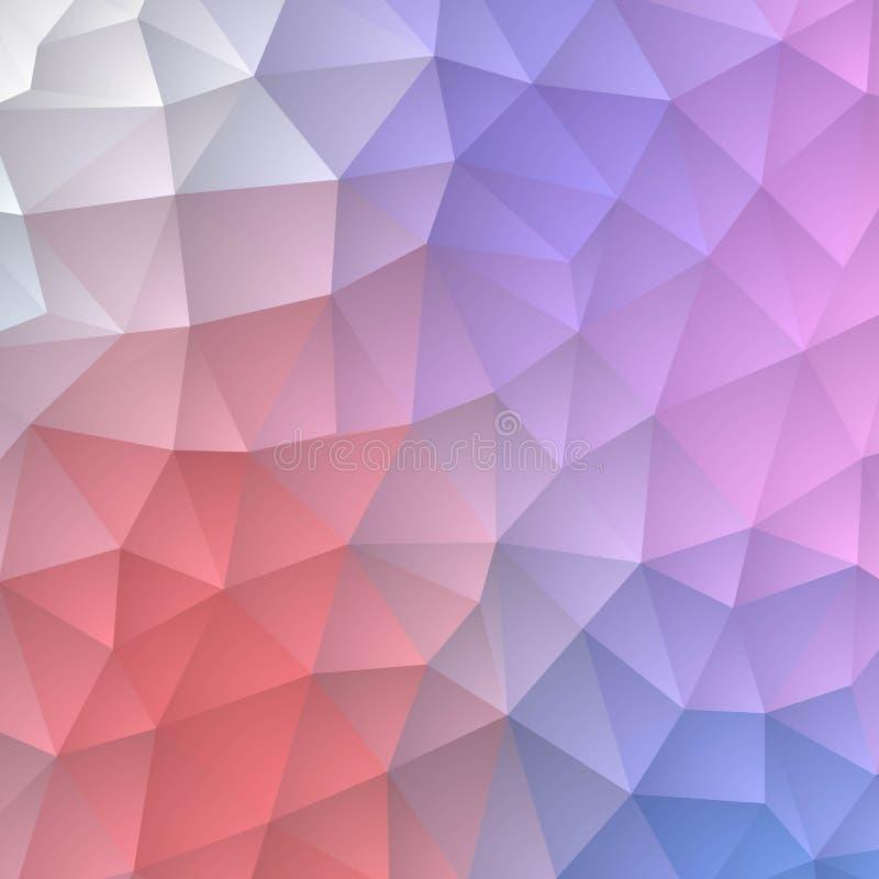 Fundo triangular pastel Estilo poligonal Disposi??o para anunciar Eps 10 ilustração do vetor