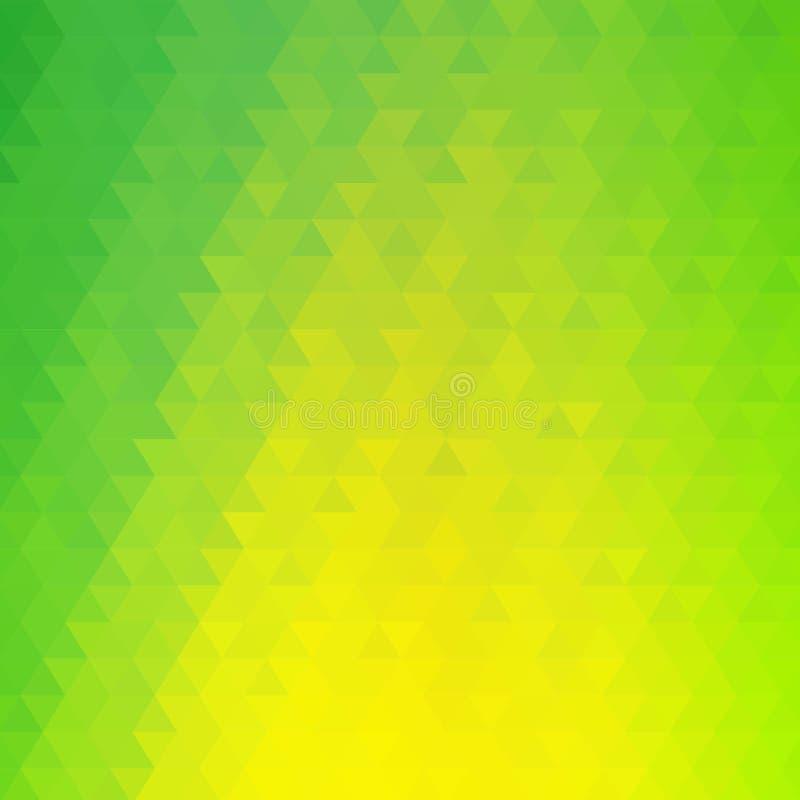 fundo triangular verde amarelo Estilo poligonal Disposi??o para anunciar Eps 10 ilustração stock