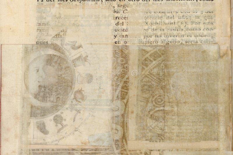 Fundo tribal antigo sujo do pergaminho ilustração do vetor
