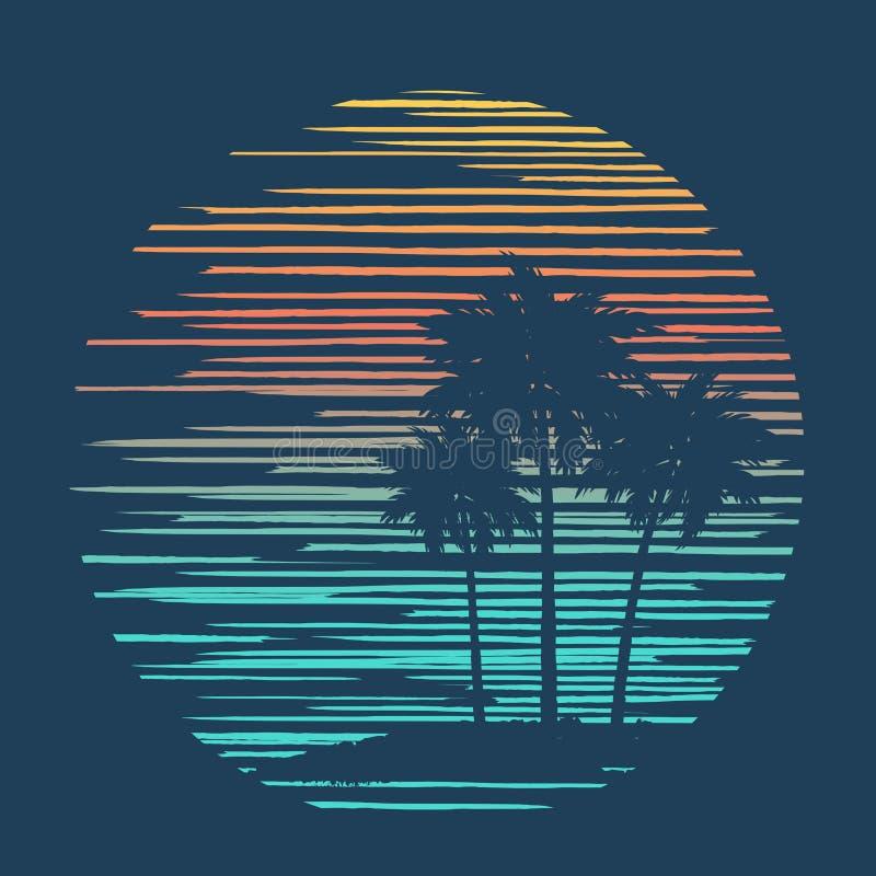 Fundo tropical 2 ilustração stock