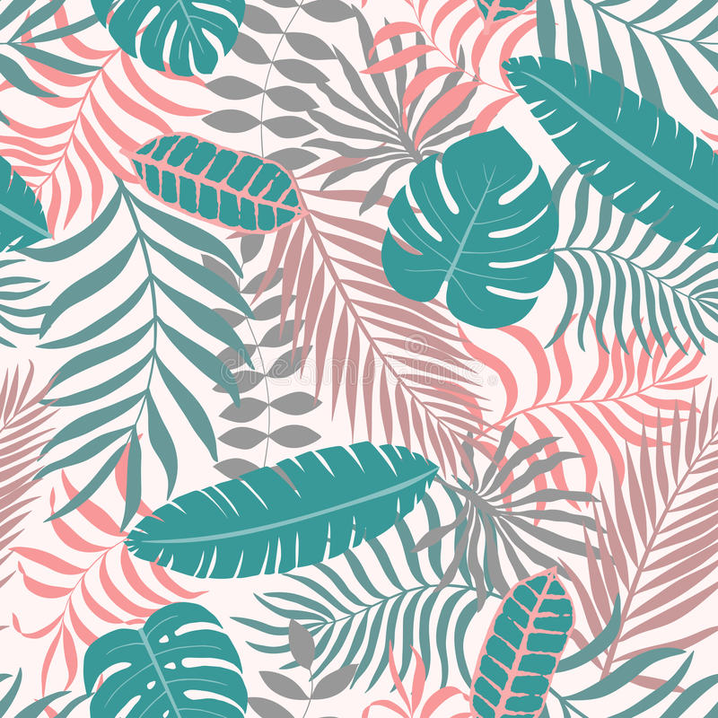 Fundo tropical com folhas de palmeira fotos de stock royalty free