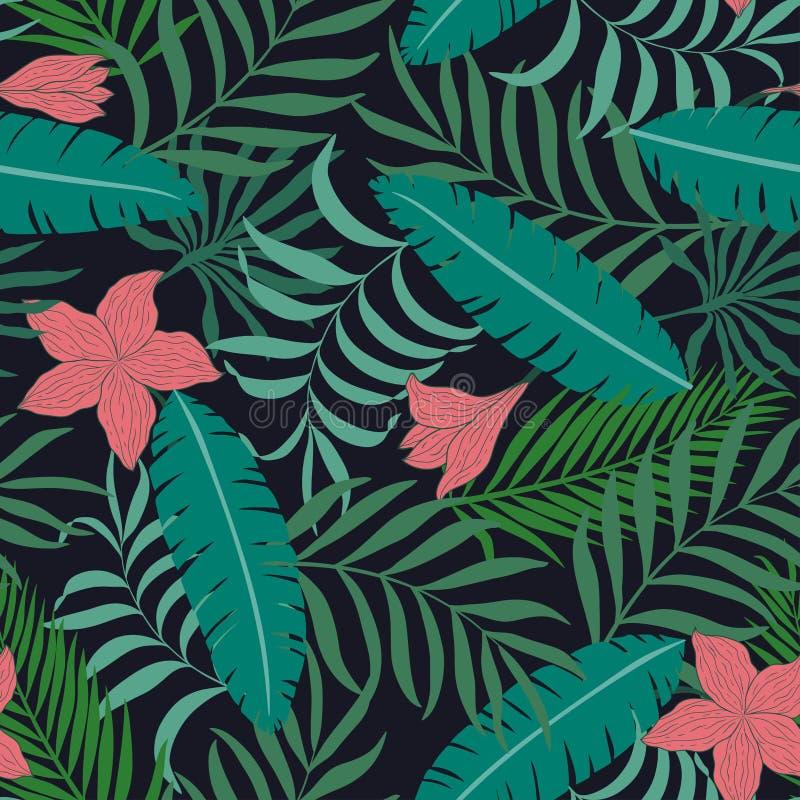 Fundo tropical com folhas de palmeira imagem de stock