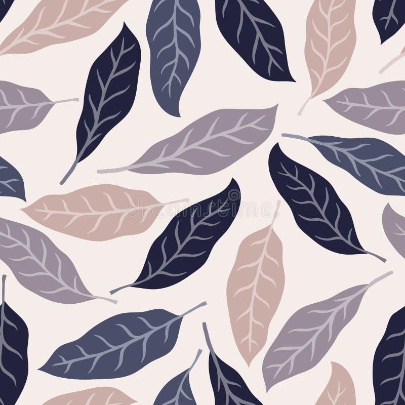 Fundo tropical com folhas de palmeira Teste padrão floral sem emenda Ilustração do vetor do verão Cópia lisa da selva ilustração do vetor
