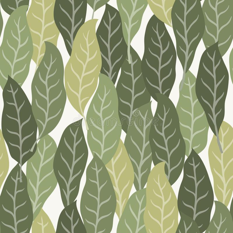 Fundo tropical com folhas de palmeira Teste padr?o floral sem emenda Ilustra??o do vetor do ver?o fotos de stock