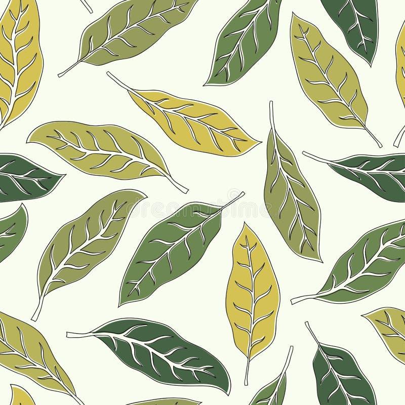 Fundo tropical com folhas de palmeira verdes Teste padr?o floral sem emenda Ilustra??o do vetor do ver?o imagens de stock