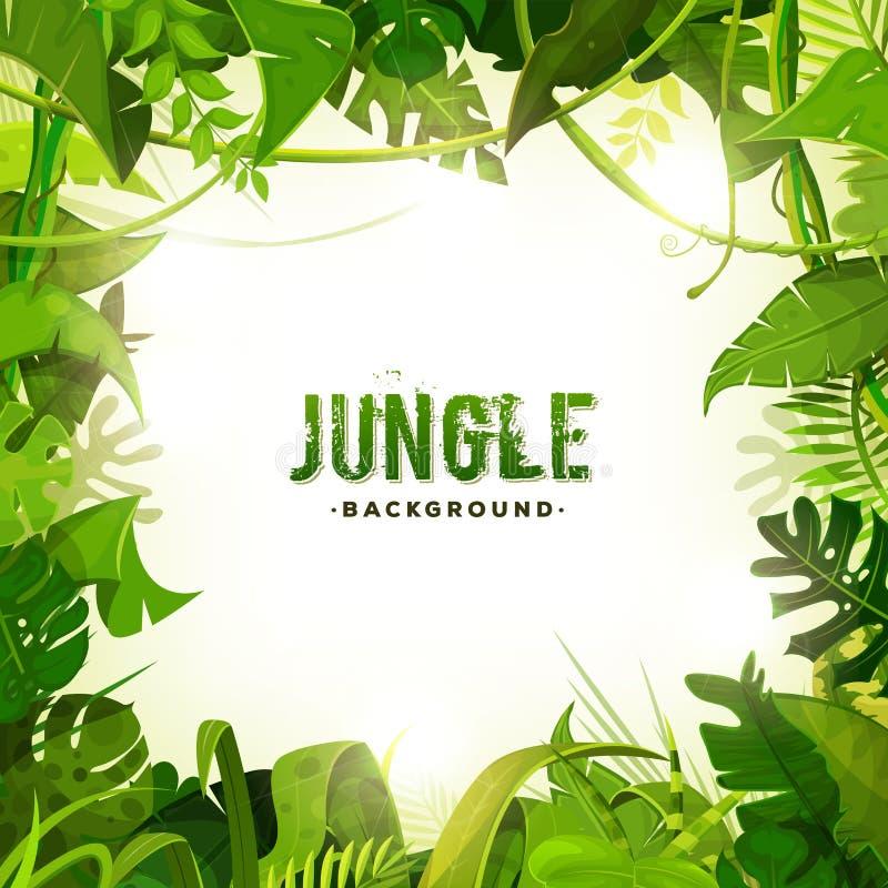 Fundo tropical da decoração da selva ilustração do vetor