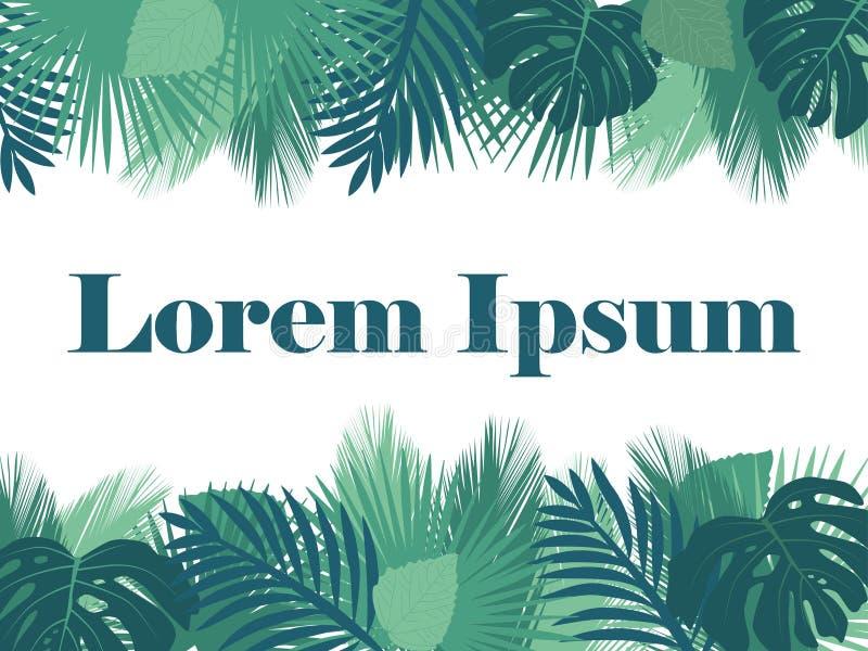 Fundo tropical das folhas ilustração stock