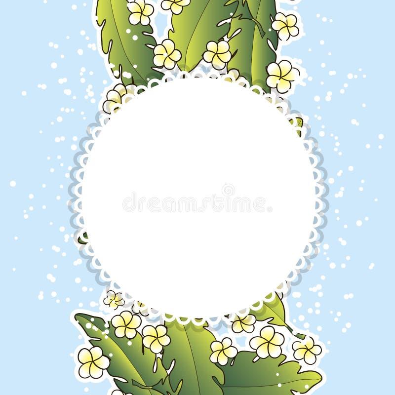 Download Fundo com palma e flores ilustração do vetor. Ilustração de lush - 29828680