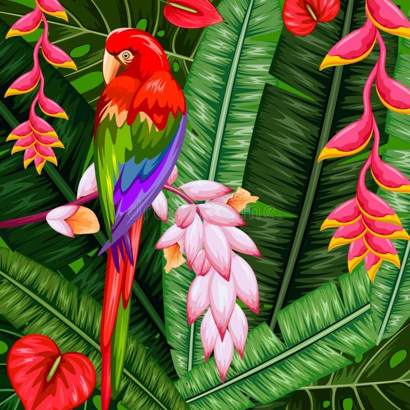 Fundo tropical exótico ilustração do vetor